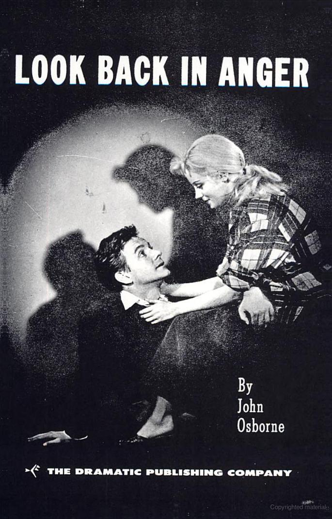 the characterization of jimmy in john osbornes play a look back in anger Der ønskes en analyse af fremmedgørelsen som tematisk struktur i john osbornes skuespil med særligt henblik plå look back in anger,  jimmy carter and.